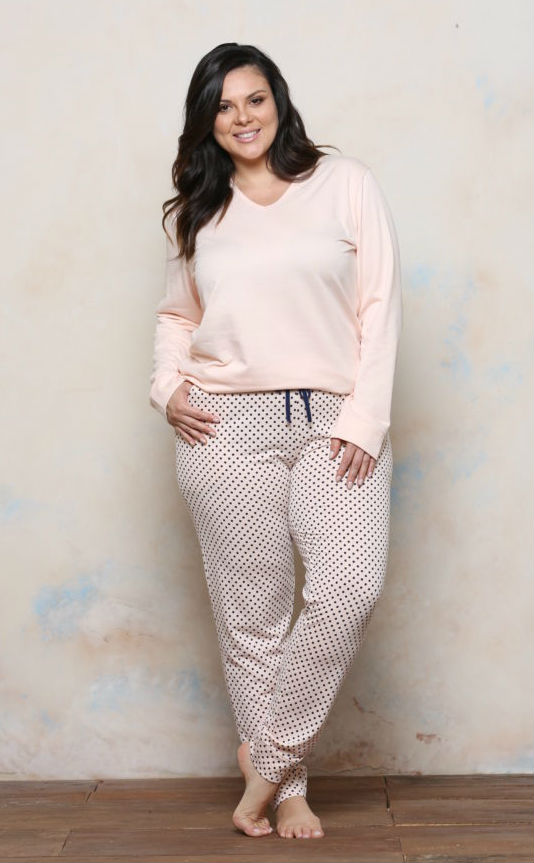 99741d047 Pijama Plus Size Moletinho PV | Kale Lingerie