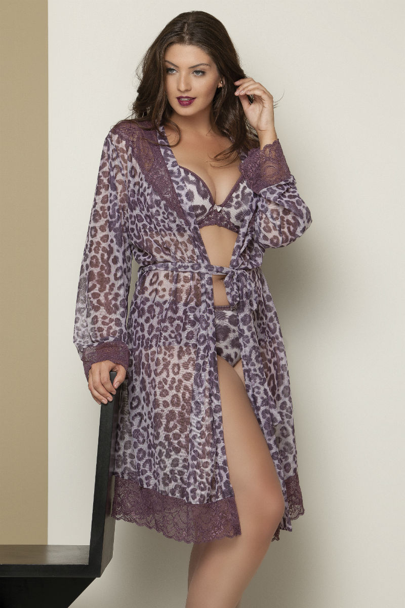 Robe Animal Print Plus Size